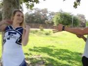 Teen cheerleader sucking
