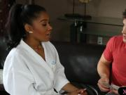 Ebony masseuse Yasmine De Leon gives nice nuru massage