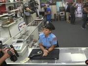 Police officer with big ass gets pounded by pawn guy
