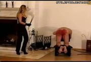 Man spanked and whipped by mistress