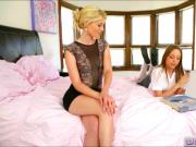 Sexy Aubrey and Charlotte lesbian lesson