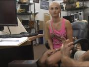 Blondie sells a rented scooter and boned by nasty pawn dude