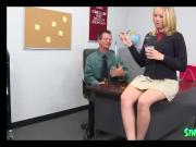 blonde teen sucks teacher cock