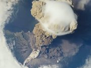 video of volcano exploding from International space station
