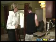 Glasses Wearing MILF Loves Young Cock
