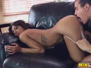 Brittany sucks every last drop out of his huge cock