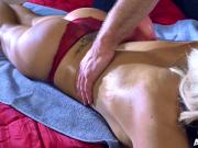 The Sitter Gives Nina Elle A Massage Which Turns Into Something Else
