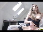 Hot Brunette Mom Fucks Pussy With Dildo