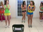 College lesbos double ended dildo dare