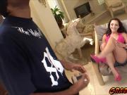 Cutie babe Lisa Del Sierra grabbing a meaty cock