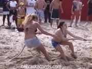 Mischievous Chicks Jiggle And Has Fun In A Spring Break Party
