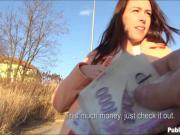Sexy Eurobabe fucked by stranger dude in exchange for money