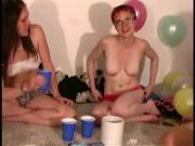 Slutty amateur party teens eating pussy