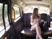Huge boobs slut pounded in the backseat