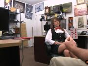 Tight amateur babe pounded by pawn guy in his back office
