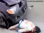 Aftermath Of Pedestrians Run Over By Crazy Driver In Ukraine