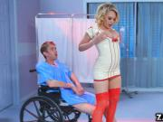 An extra ordinary nurse Kagney Linn banging her patients