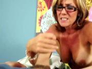 Cock tugging loving grannie spoils dick