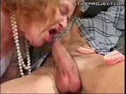Old Cunt Blows Cock Without False Teeth