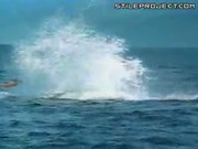 Whale Jumps & Splashes Onto Guy In Canoe