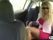 Hot ass blonde passenger drilled by fake driver for free
