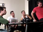 Oral orgy with Dominic Reed and buds
