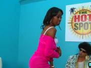 Black hottie Dariel does a naughty casting for rap video