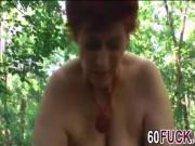 Tamara Redhead Granny Blowjob Outdoor Fucking