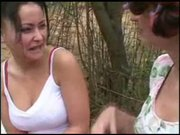 Aroused Mature Charms Confused Unshaven Gal In Garden
