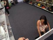Sexy ex dominatrix pawns her twat and fucked at the pawnshop