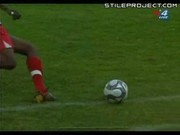 Soccer player gets his leg broke in half. OUCH!