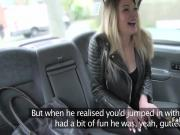 Blonde got her ass rimmed in taxi