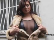 Drilling French bigtit amateur POV style
