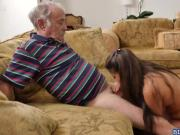 Gorgeous Jeleana Marie fucks with old neighbors