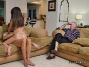 Teen Amy Rides Old Guy And Gets Jizzed On