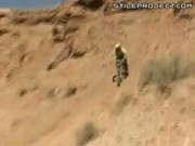 Extreme Dirt Bike Downhill Stunting