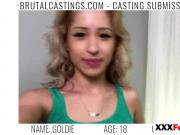 Hot Blonde Goldie Brutal Castings Blowjob