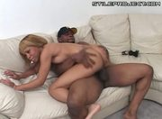 Blonde Black Gal Gets Pussy Packed