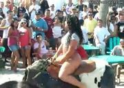 delicious big booty shaked by mechanical bull