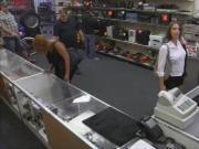 Big booty amateur brunette babe screwed in the backroom