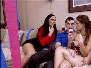 StepDaughter And StepMom Bang The BF