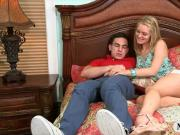 Busty stepmom Eva Notty fucking with a naughty teen couple