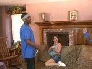 Sexy whore Casey Cumz gets her twat and ass fucked by blacks