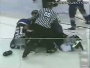 Steve Moore Hockey Head Punch Knockout Pile Up