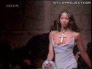 Naomi Campbell Runway Tit Slip
