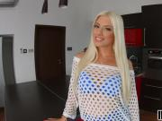 All holes filled for gorgeous blonde Jessie Volt