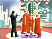 japanese gameshow hosts amazed by huge white titties