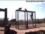 Epic Fail - Net Climb Fall Obstacle Course