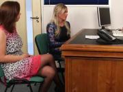 Cfnm femdom Lissa Love gives doctor a bj