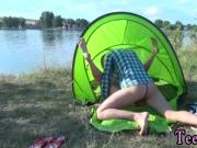 Alex tanner cumshot Eveline getting drilled on camping site